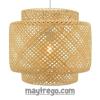 Đèn tre đan thả trần trang trí quán cafe, nhà hàng, khách sạn, spa