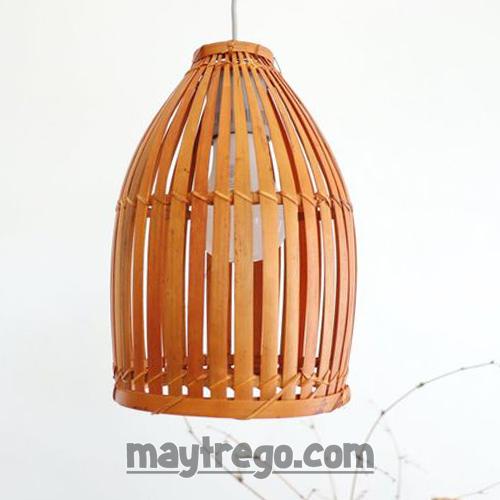 Đèn nơm tre đan cỡ nhỏ – Fi20cm xH28cm