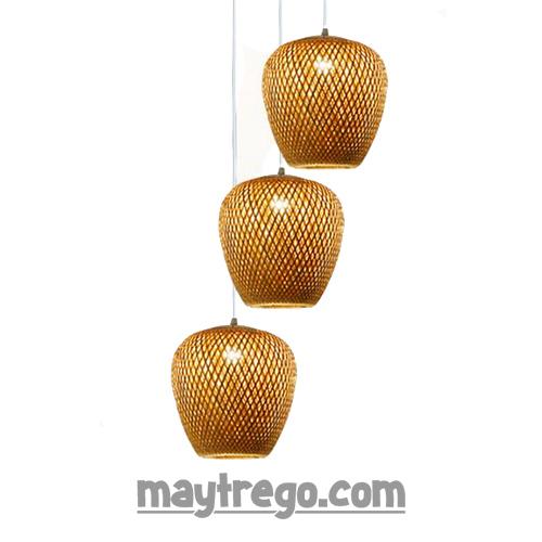 Bộ 3 lồng đèn tre đan (25cm) thả trần trang trí