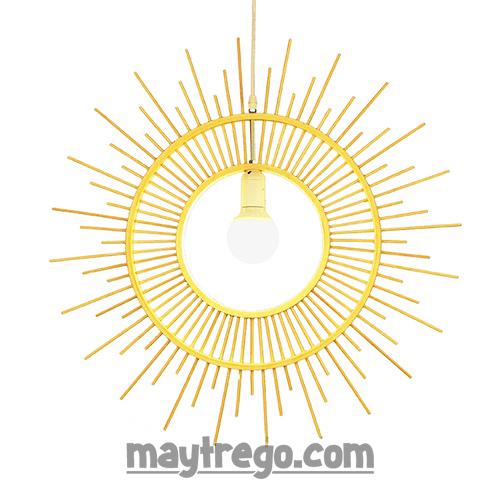 Đèn tre mặt trời toả tia sáng Fi60cm