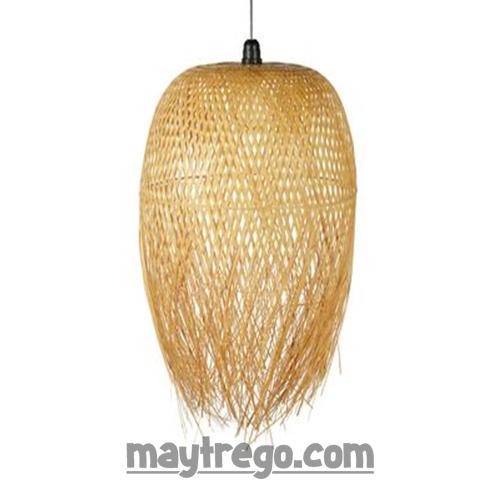 Đèn tre đan con sứa tua rua cỡ lớn Fi45cm H65cm